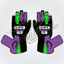 Tech Pro 15 Motorbike Leather Race Gloves
