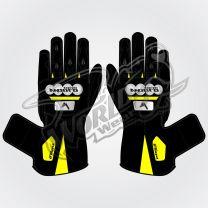 Tech Pro 19 Motorbike Leather Race Gloves