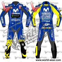 Valentino Rossi Yamaha Movistar 2018 Motogp Leather Racing Suit