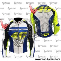 VR46 Valentino Rossi Motorbike Leather Racing Jacket