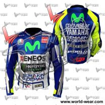 Valentino Rossi Yamha Motogp Movistar Leather Racing Jacket