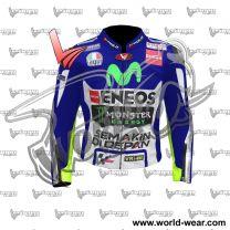 Valentino Rossi Yamaha Movistar Motogp Leather Racing Jacket
