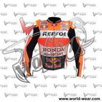 Marquez Redbull Honda Repsol Motogp Leather Racing Jacket