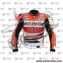 Marc Marquez Honda Repsol Motocycle Leather Racing Jacket