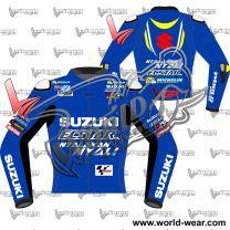 Alex Rins Suzuki Ecstar Motogp 2018 Leather Race Jacket