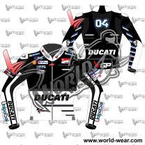 Andrea Dovizioso Black Ducati MotoGP 2018 Leather Race Jacket