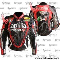 Aprilia RSV4 Motorcycle Motogp Leather Racing Jacket