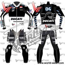 Andrea Dovizioso Black Ducati 2018 MotoGP Leather Race Suit