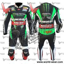 Kawasaki Monster Energy Motogp Leather Motorcycle Racing Suit