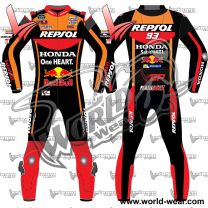 Marc Marquez Black 2017 Motogp Leather Motorcycle Racing Suit