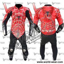 Spiderman WSBK Motorcycle Leather Racing Suit