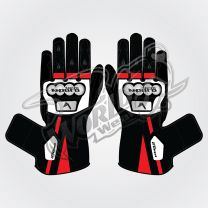 Tech Pro 10 Motorbike Leather Race Gloves