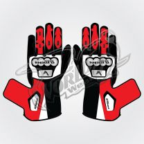 Tech Pro 11 Motorbike Leather Race Gloves