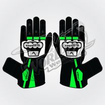 Tech Pro 9 Motorbike Leather Race Gloves