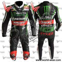 Tom Skyes 2016 Kawasaki Ninja Motorbike Leather Racing Suit