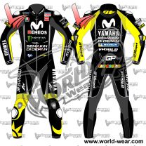 Valentino Rossi Black Yamaha 2018 Motogp Leather Racing Suit