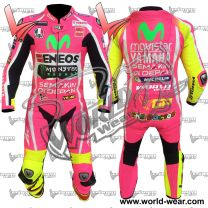 Valentino Rossi Pink Yamha Motogp Leather Racing Suit
