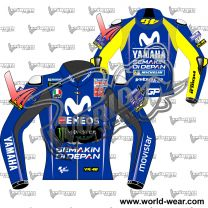 Valentino Rossi Yamaha Movistar MotoGP 2018 Leather Race Jacket