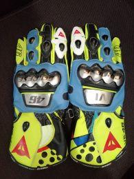 Valentino Rossi 2021 MotoGP Leather Racing Gloves